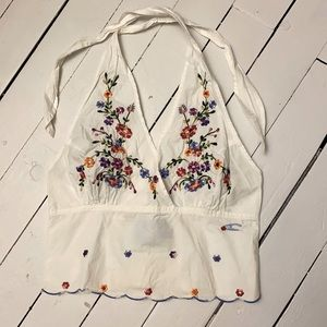 O'Neill Embroidered Halter Top